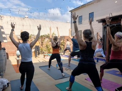 Yoga + Wine at Carr Winery