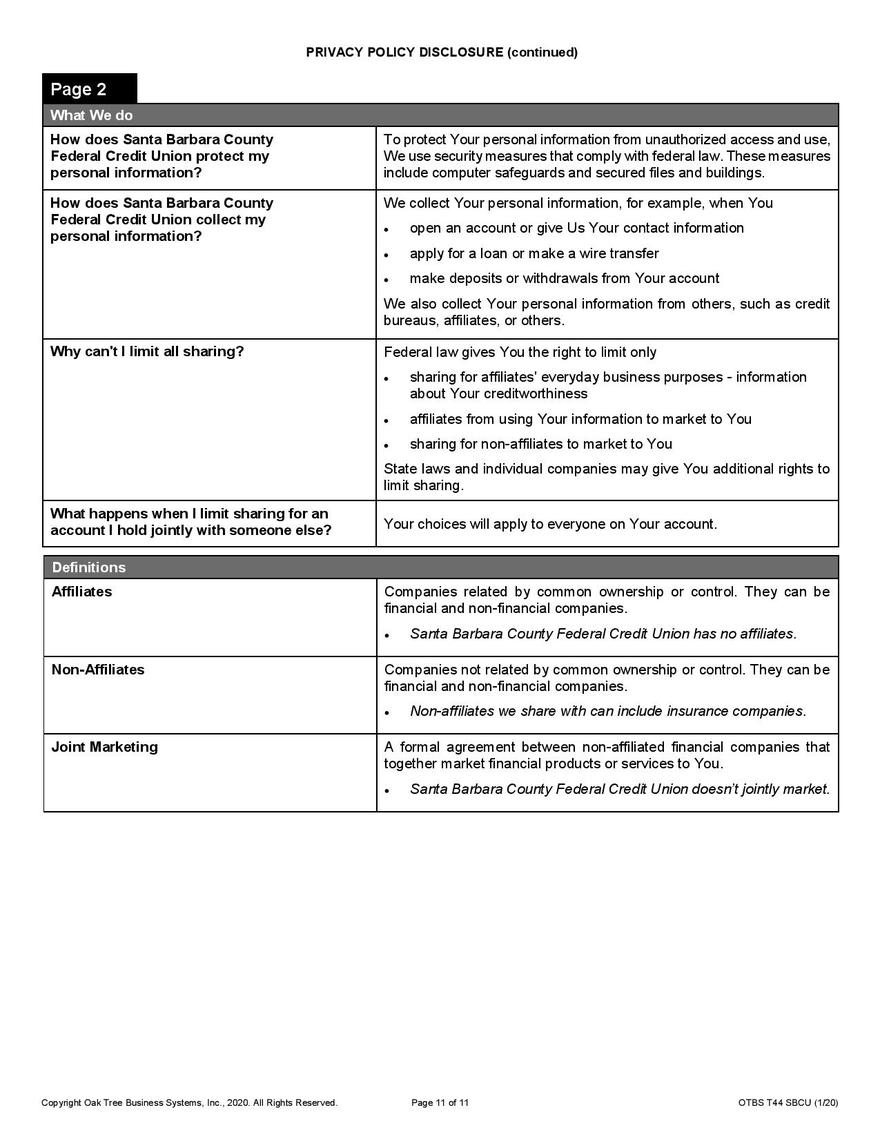 Privacy Choices pg 2
