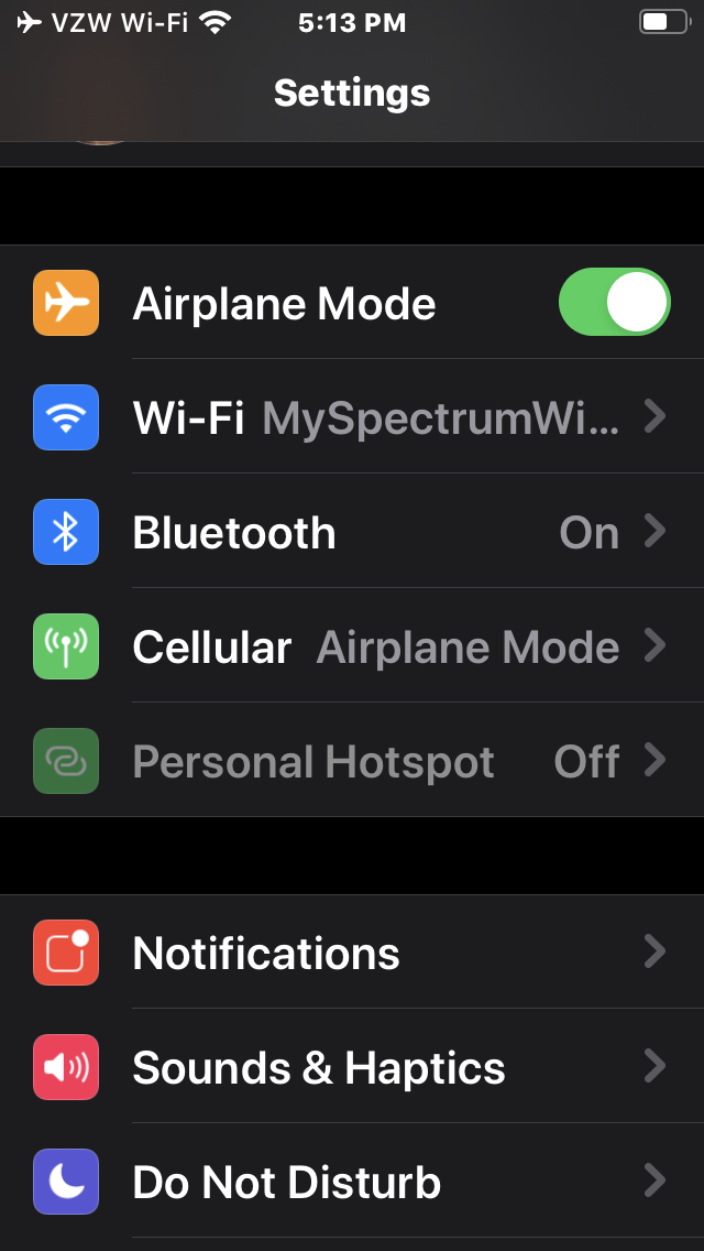 Airplane Mode People!