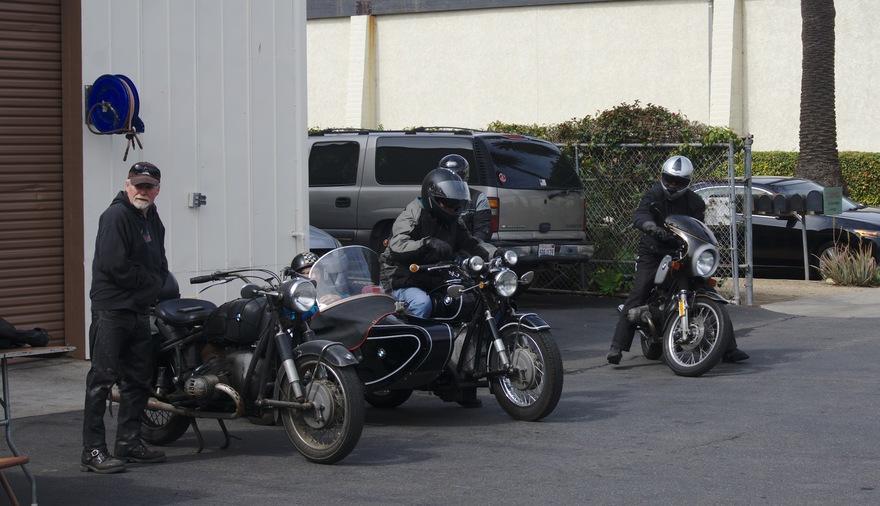 The local biker gang rolls in.
