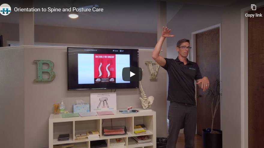 Fountain Of Youth - Orientation to Spine and Posture Care
