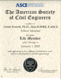 Dr. Lorne Everett Receives ASCE Life Member Award