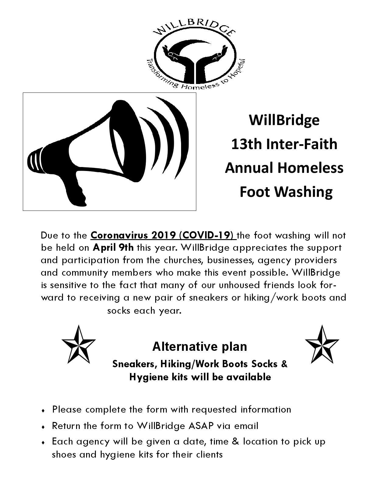 Willbridge 13th Inter-Faith Annual Homeless Foot Washing