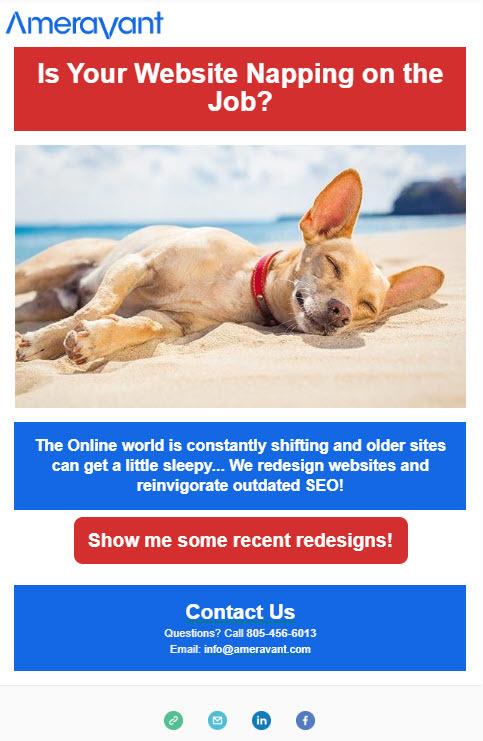Sample Mailchimp Email
