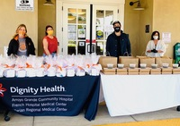 Good News to Share: Dignity Health Home Health, Hospice and Infusion Provide Personal Hygiene Kits to Local Seniors Local low income seniors receiving essential items from Dignity Health staff