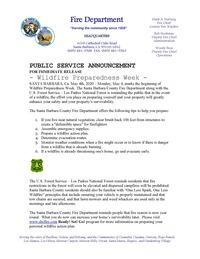 2020 Wildfire Preparedness Week