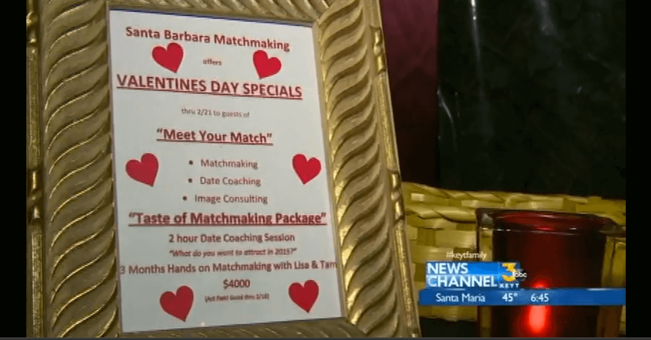 Lisa Amador's Santa Barbara Matchmaking Featured in News Channel 3's Weekend Picks with Meredith Garofalo