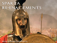 Stock Footage Clips Re-Enactment of Sparta Ancient Greece Greek Leonidas and the 300 Spartans Battle of Thermopylae Persian Wars