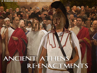 Stock Footage of Re-Enactments of Ancient Athens Ancient Greece Greek