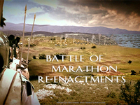 Stock Footage of Re-Enactments of the Battle of Marathon Ancient Greece Greek Persian Wars