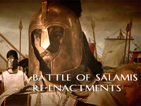 Stock Footage Re-Enactments of the Battle of Salamis Ancient Greece Greek Persian Wars