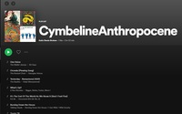 Cymbeline Anthropocene Playlist