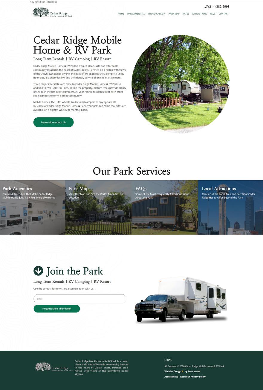 Cedar Ridge Mobile Home & RV Park