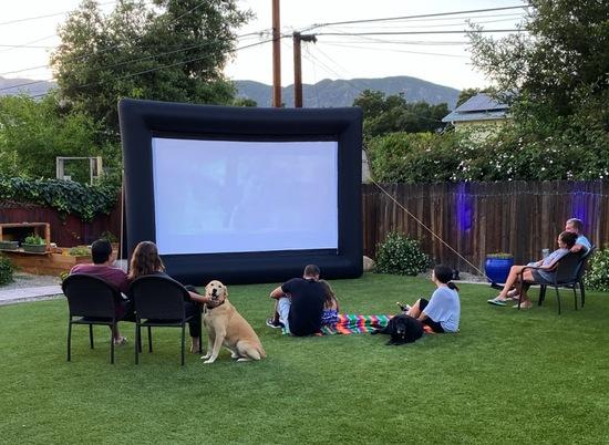 Movie Night Santa Barbara Inflatable Screen
