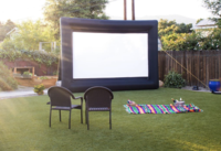 Movie Night set up Santa Barbara