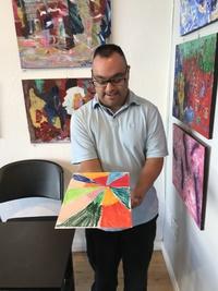 Juan Perez at Santa Barbara Art Works