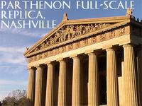 Parthenon Sculpture Statues full-scale replicas in Nashville Tennessee