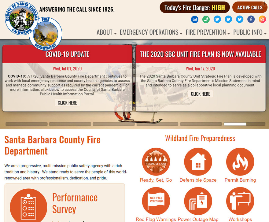 New Fire Department Website