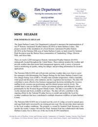 Purisima RAWS News Release RH