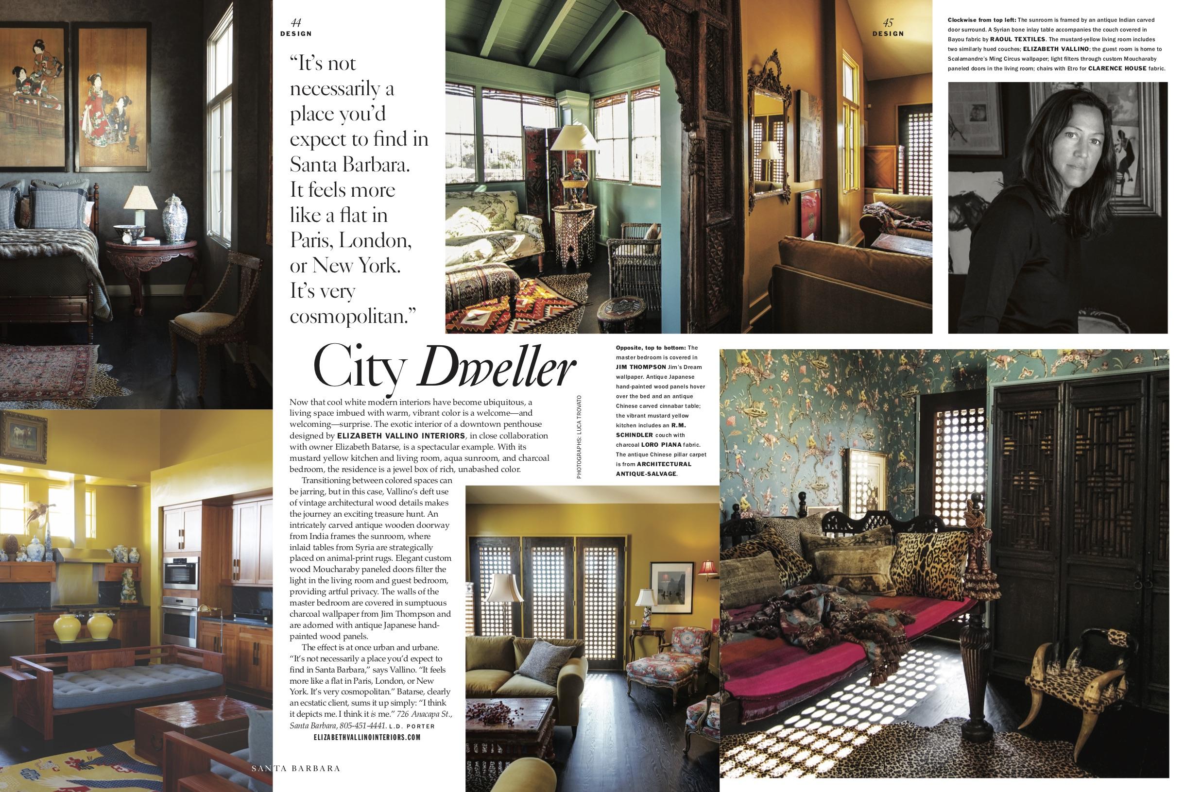 Santa Barbara Magazine Elizabeth Villano Interiors