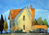 Watercolor painting of a house by Brian MacLaren