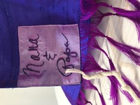 """Noa's """"Comet Tail"""" traditional tallit"""