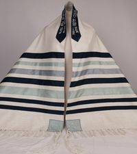 Ian's full sized many-striped tallit