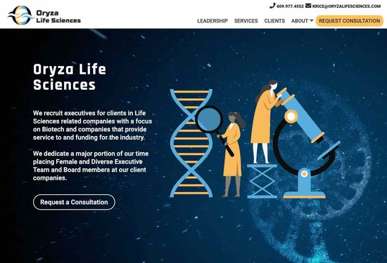 Oryza Life Sciences Homepage