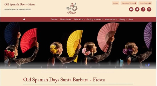 Old Spanish Days (Fiesta) Homepage