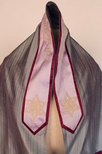 Striped Flower Vine Tallit