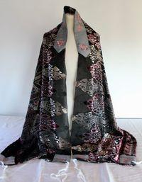 Roma's stunning burnt silk velvet tallit