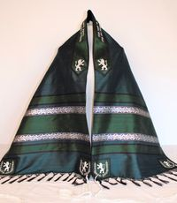Jewel Tones and Silver Accents Tallit