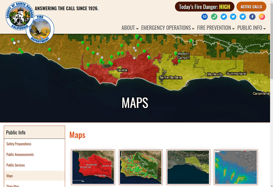 Santa Barbara County Fire Department Maps