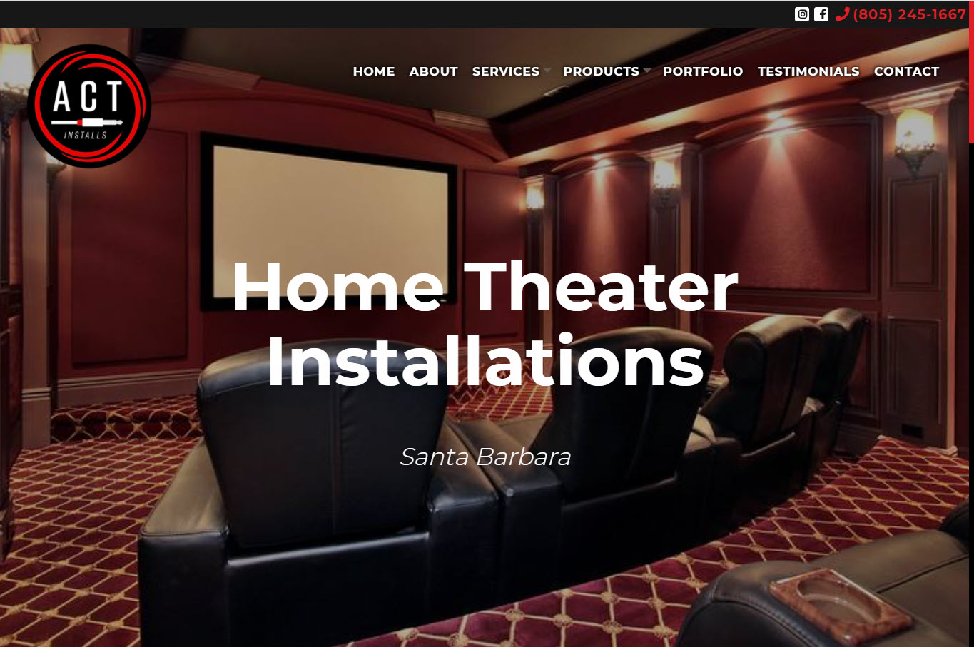 ACT Installs Homepage