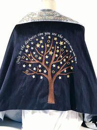 Megan's MLK tree of stars tallit
