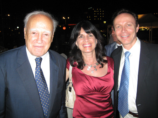 President of Greece, Papoulias, meets CelebrateGreece.com's James Stathis (The Greek) and Cynthia Daddona (Goddess).