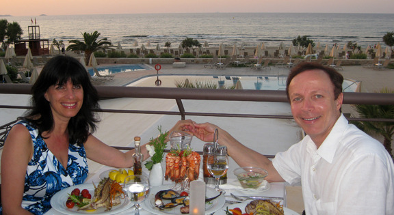 Romantic dining and Crete's wonderful bounty from the sea at the beautiful Kosta Mare Palace Resort & Spa