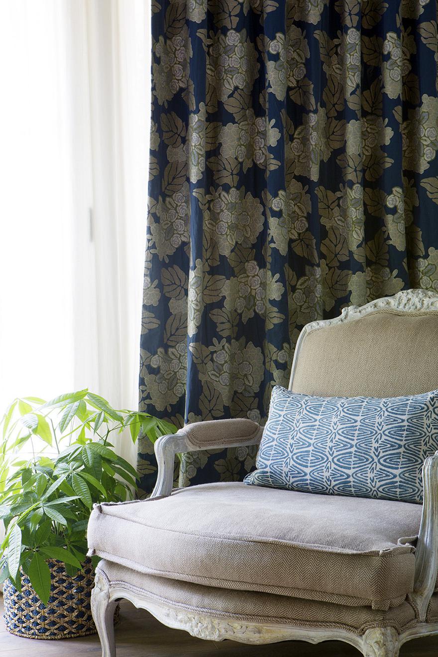 Santa Barbara Interior Design Antique textile