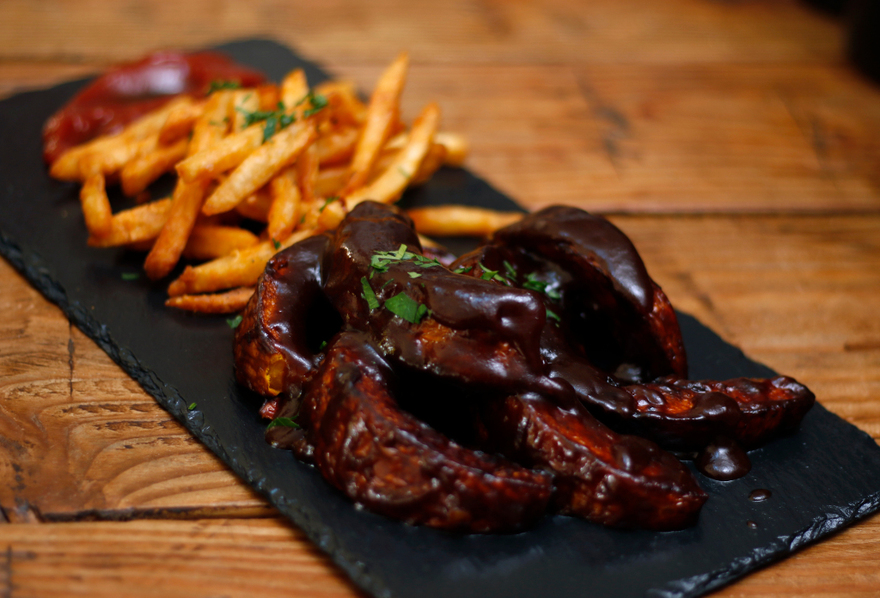 Uncorked's barbecued pumpkin ribs. | Credit: Daniel Dreifuss