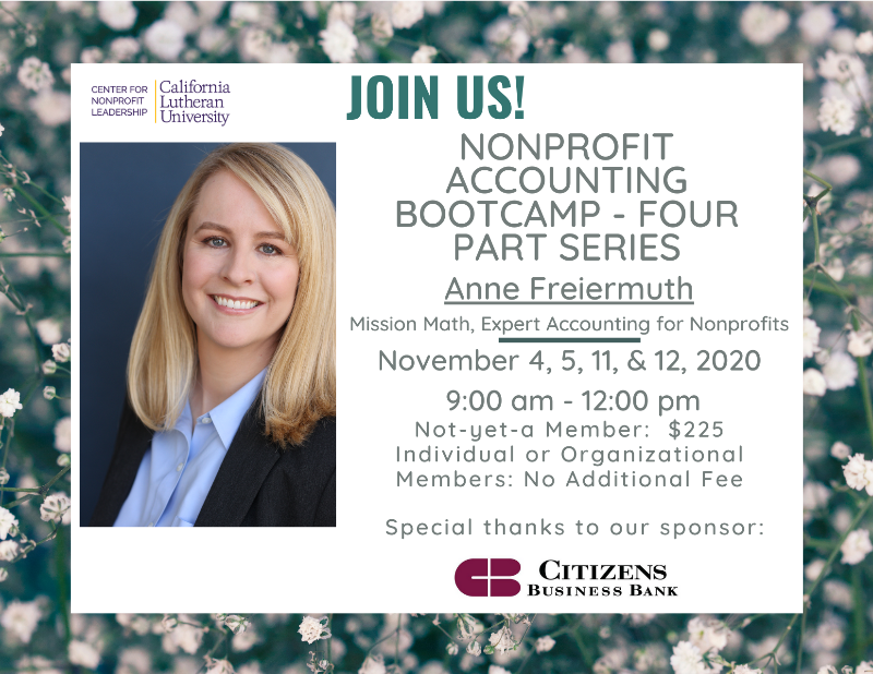 Non-Profit Accounting Boot Camp - 4 Part Series
