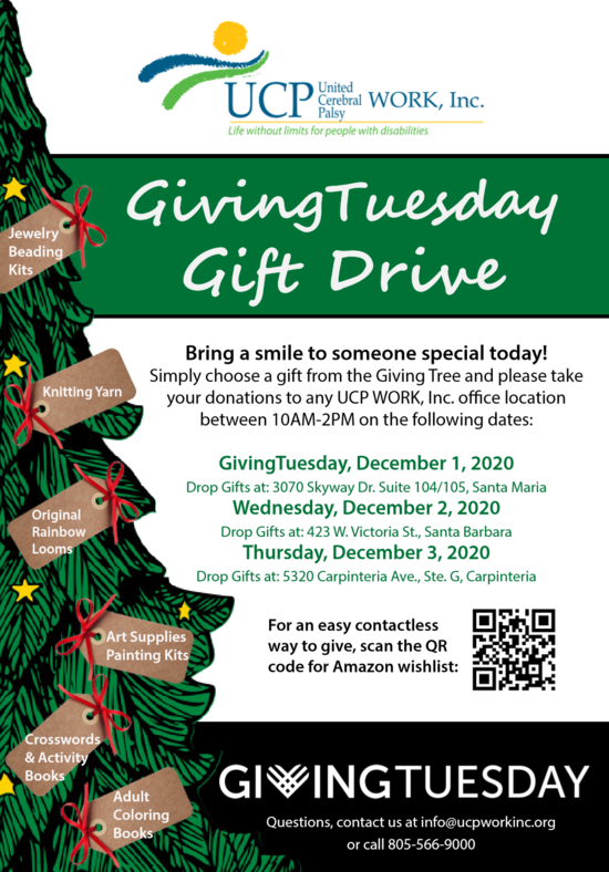 UCP WORK, Inc. GivingTuesday Gift Drive