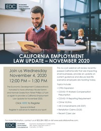 EDC Webinar- California Employment Law Update November 2020