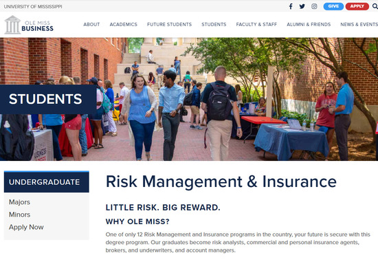 Ole Miss University - Business School Insurance Symposium 2020 Cover