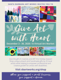 Give Art with Heart Virtual Art Market December 2020 Poster