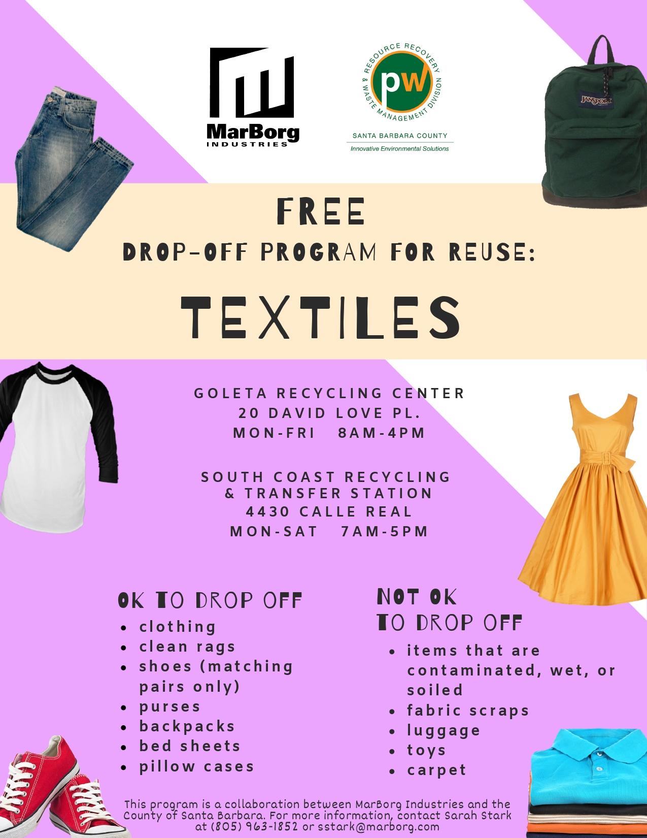 Textile Drop Off Information