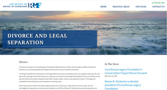 Santa Barbara Law Offices of Renee M. Fairbanks - Secondary Page