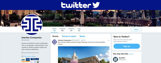 Twitter Social Media Profile Page