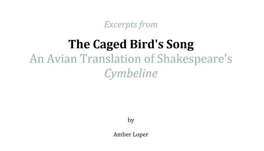 A Caged Bird's Song