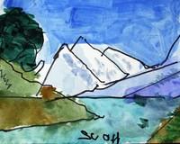 Watercolor landscape painting by artist Scott Ryker