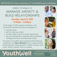 Workshop - Strategies to manage anxiety & build relationships